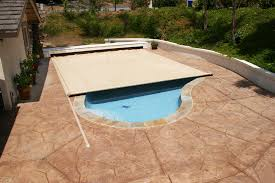retractable pool cover. On Deck Track Automatic Cover - Up To 399 SF Retractable Pool