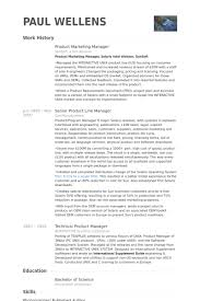Product Marketing Manager Resume Samples Visualcv Resume Samples