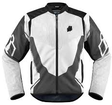 icon mens anthem 2 armored fighter mesh motorcycle riding jacket white
