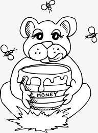 650x886 cartoon cubs eat honey line chart bee line chart bear line chart