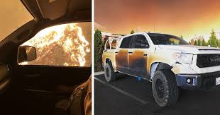 Nurse Drives Through Fire To Treat California Wildfire Victims