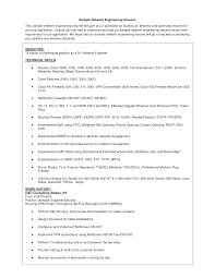 Resume Templates Junior Network Engineer Sample Entry Level Cisco