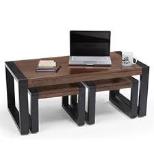 save space furniture. altura coffee table with nested stools twotone finish save space furniture r
