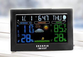 color weather station wireless outdoor temperature remote humidity atomic clock 1 of 3 see more