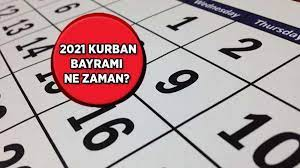 2021 Bayram ne zaman, tatil kaç gün olacak? Kurban Bayramı hangi tarihler  arasında idrak edilecek? - Güncel Haberler Milliyet