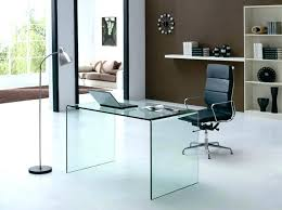 full size of large black glass office desk computer argos metal top with keyboard tray modern