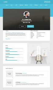 Html Resume Template One Page Free Download Intexmar