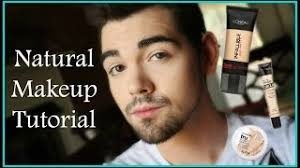 natural makeup tutorial for men using makeup
