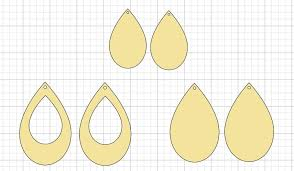 Free Leather Templates Leather Earring Templates Free Printable