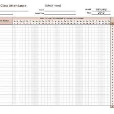Attendance Tracker Free 40 Free Attendance Tracker Templates Employee Student Meeting