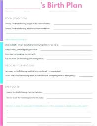 How To Plan Baby Birth Date Simple Birth Plan Template