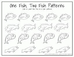 One Fish Two Fish Red Fish Blue Fish Coloring Pages - FunyColoring