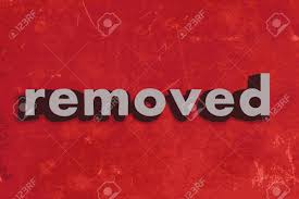 Image result for removed word