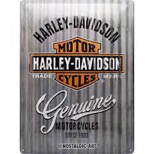 harley davidson metal wall genuine