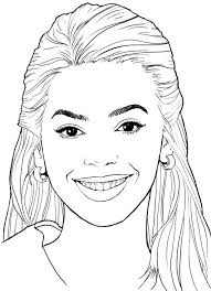 Celebrity Hard Person Coloring Pages Print Coloring