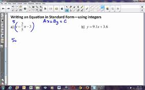 algebra 2 lesson 2 4 more about linear equations