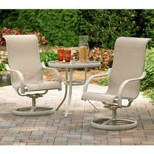 ... Patio, Patio Bistro Set Clearance Patio Furniture Clearance Costco  Ivory Rubber And Metal Swivel Chair ...