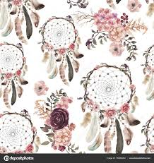 What Native American Tribes Use Dream Catchers Watercolor Ethnic Boho Floral Pattern Dream Catchers Flowers 60