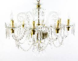 superb vintage venetian eight light crystal chandelier for 2