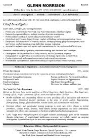 Corporate Security Resume