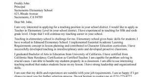 Teacher Resume Cover Letter Entry Level Education Resume Cover