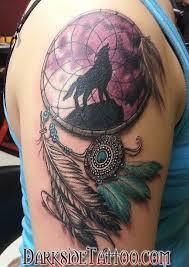 Dream Catcher Tattoo Color Darkside Tattoo Tattoos Color Color Dreamcatcher Tattoo 22