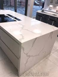 stunning quartz products for both kitchen bathroom and comercial sector with mitred corner and edge polished