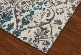 modern grey teal premium polypropylene rug soft and luxurious