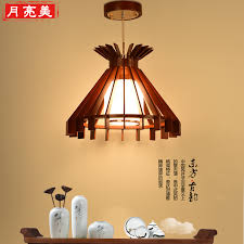 get ations modern chinese single head glass chandelier dining restaurant corridor creative minimalist wooden retro art small chandelier