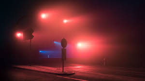 Stop Light At Night Wallpaper Traffic Lights Night Mist Fog Hd Photography