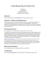 cover letter manager resume objective examples project manager ...