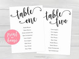 Wedding Table Assignment Template Capriartfilmfestival