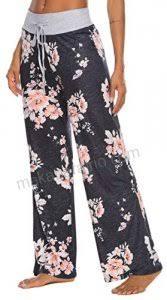 Hello Mello Lounge Pants Size Chart Locube Womens Casual Floral Print Wide Leg Palazzo Lounge