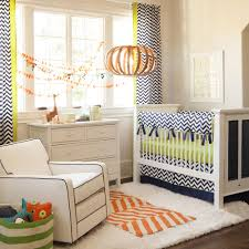 navy and citron zig zag crib bedding