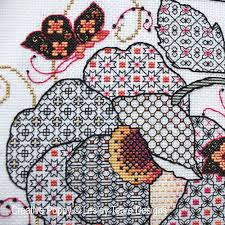 Cross Stitch Flower Patterns Mesmerizing Lesley Teare Designs Flower Butterflies Blackwork Cross Stitch