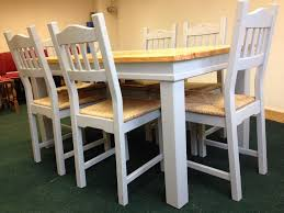 Pine Farmhouse Kitchen Table Pine Farmhouse Table And 6 Chairs In Wickford Essex Gumtree