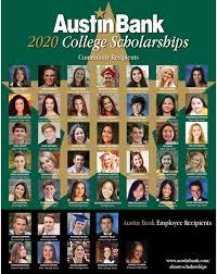 Austin Bank Scholarship Winners | Community Support | East Texas Bank
