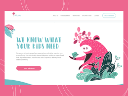 Babysitting Service Landing Page By Tubik On Dribbble