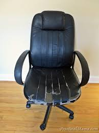 reupholster office chair. Diy: Reupholstering The Old Office Chair Practical Mama Intended For Chairs Reupholster R