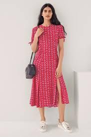 Mix Caroline Issa Rose Print Tea Dress