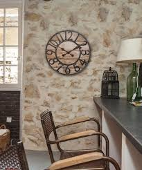 image of chaney wall clock the chaney 19 5 inch rustic wood mdf wall