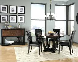 contemporary 7 piece dining room sets modern 7 piece dining set black round table room kitchen