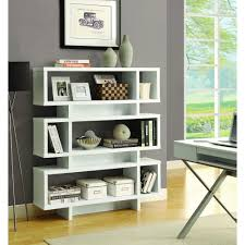 White modern bookshelf Eurway White Open Bookcase Home Depot Monarch Specialties White Open Bookcasei 2532 The Home Depot