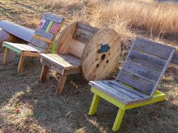 adirondack chairs from free wooden spools homemade