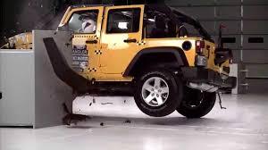 iihs 2018 jeep wrangler 4 door small overlap crash test good evaluation
