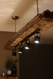 hanging pendants track. Kitchen Lighting Track Light Fixtures For Using Reclaimed Wood Logs And Metal Hanging Chain Also Pendants R