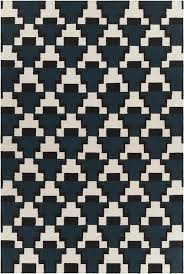 avon collection blue and black and white hand woven area rug by chandra rugs