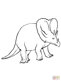 Coloriage Tric Ratops Dinosaure Due Cr Tac Coloriages