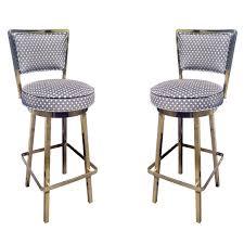 upholstered bar stools. 2 Upholstered Swivel Bar Stools For Sale L