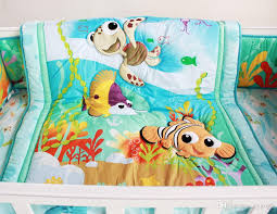 fish ocean baby bedding set cot crib bedding set for girls boys includes cuna quilt baby bed per sheet skirt kids bedding sets twin toddler boy twin